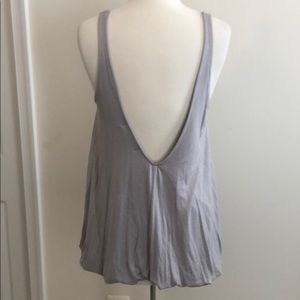Project Social T Gray Low Back Top